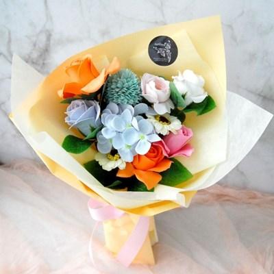 비누꽃 서양난 꽃바구니 핑크색꽃 부모님 명절선물