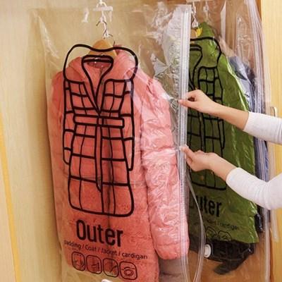 코트 패딩 옷 의류 압축팩 진공 겨울옷정리 옷장정리(2사이즈)