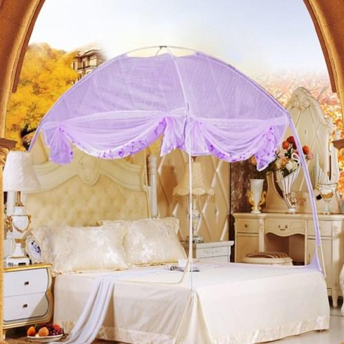 유니룸 돔형 모기장(150x200cm)(퍼플) / 침대모기장