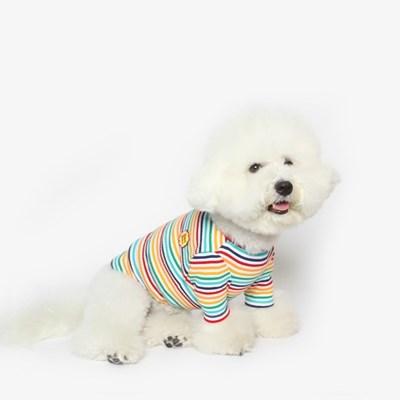 강아지 무지개 티셔츠