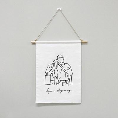감성 패브릭 포스터 그림 그리기 DIY 세트