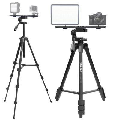 VT-346M 카메라 삼각대 + KP-033 듀얼 브라켓 SET