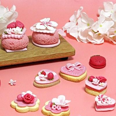봄 체리블라썸 딸기 쌀카롱 수제 쿠키 만들기 DIY키트