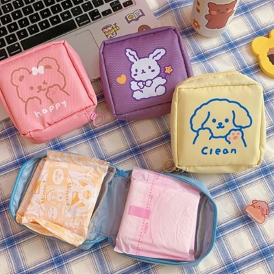 미니파우치 생리대파우치 귀여운 캐릭터 토끼 가방