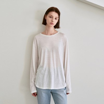 RENEWAL PURE LONG SLEEVE T-SHIRTS_CREAM