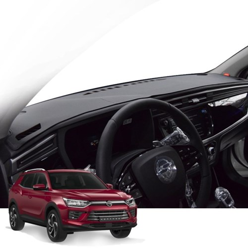 K 쌍용 뷰티풀 코란도 매트 카본 자동차 대쉬보드 커버 DashS01