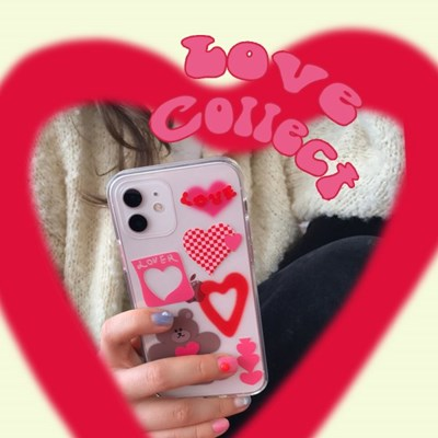 [뮤즈무드] love collect (clear) 아이폰케이스