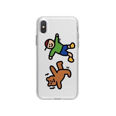 아이폰12 개구쟁이 곰돌이 캐릭터 젤리 케이스 P504_(3676372)