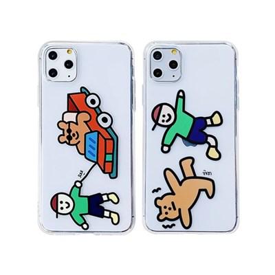 아이폰12프로맥스 개구쟁이 곰돌이 젤리 케이스 P504_(3676370)