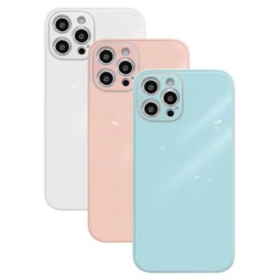 아이폰8플러스 글라스 파스텔 심플 하드 케이스 P584_(3674793)