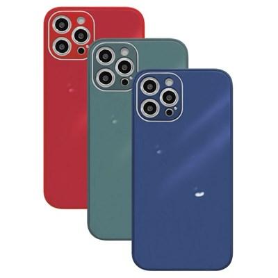 아이폰8 글라스 파스텔 심플 커버 하드 케이스 P584_(3674791)