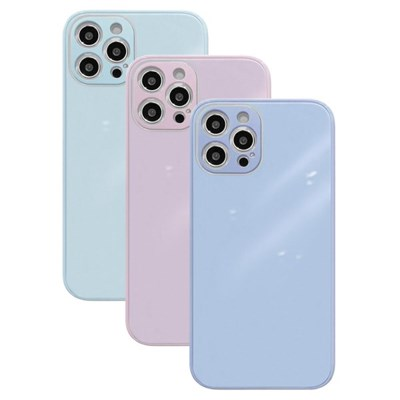 아이폰7 글라스 파스텔 심플 커버 하드 케이스 P584_(3674787)