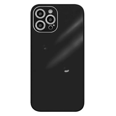 아이폰12 글라스 파스텔 심플 커버 하드 케이스 P584_(3674781)