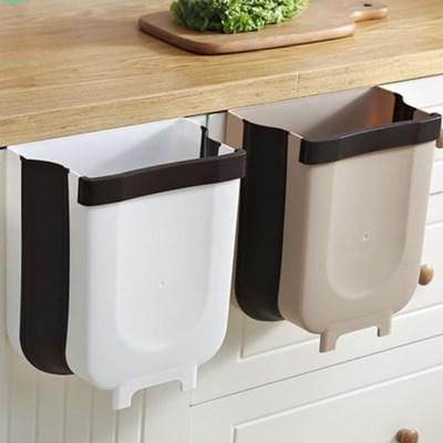 데코잇 주방 싱크대 도어 걸이 다용도 접이식 쓰레기통 휴지통 6L