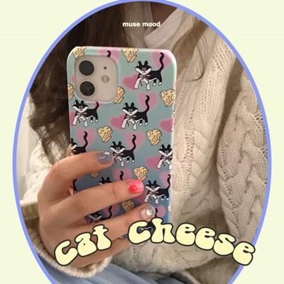 [뮤즈무드] cat cheese 아이폰케이스