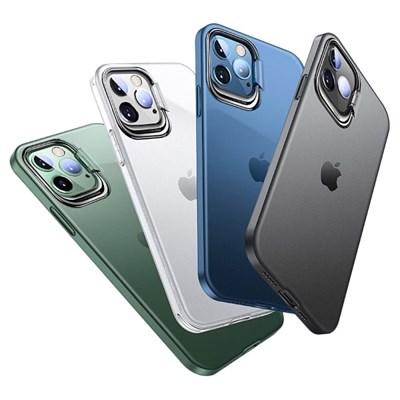 아이폰12 컬러 링 매트 커버 하드 케이스 P420_(3678307)