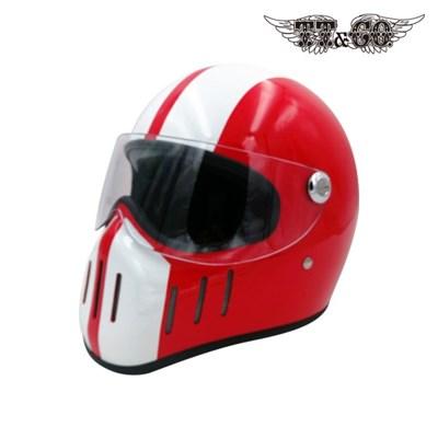 티티앤코 톰슨 TT02D 풀페이스헬멧 - 유광 레드 화이트