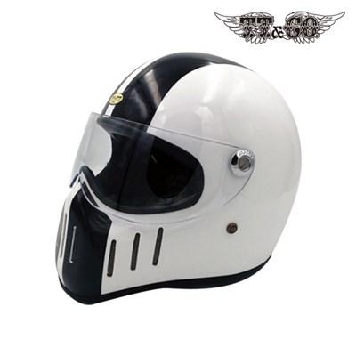 티티앤코 톰슨 TT02D 풀페이스헬멧 - 유광 블랙 화이트