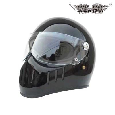 티티앤코 톰슨 TT02D 풀페이스헬멧 - 유광 블랙