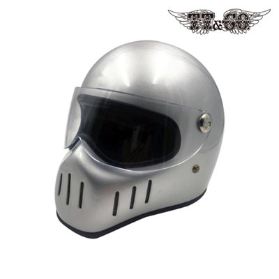 티티앤코 톰슨 TT02D 풀페이스헬멧 - 유광 실버