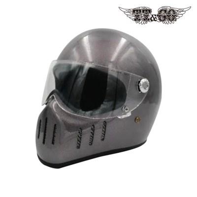티티앤코 톰슨 TT02D 풀페이스헬멧 - 유광 그레이
