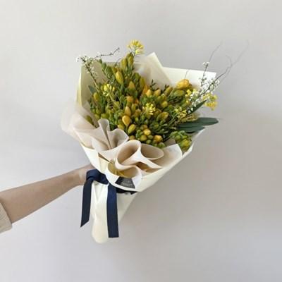 [생화] '봄향기 가득' 후리지아 프리지아 꽃다발 (택배가능)
