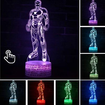 마블 어벤져스 아이언맨  아크릴 3D LED 램프 USB