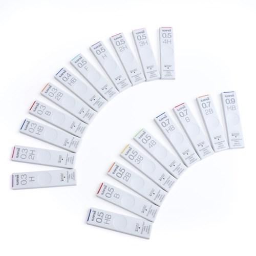 UNI 스머지 프루프 슬라이딩 샤프심 0.3/0.5mm