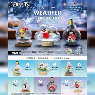 [리멘트] 스누피 날씨 테라리움 (1BOX=6개입)풀박스