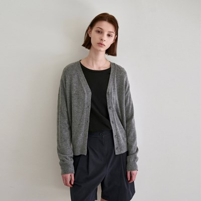 RENEW CASHMERE CARDIGAN_GRAY