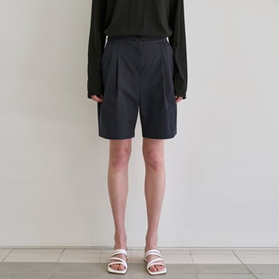 TWO TUCK SHORTS_NAVY