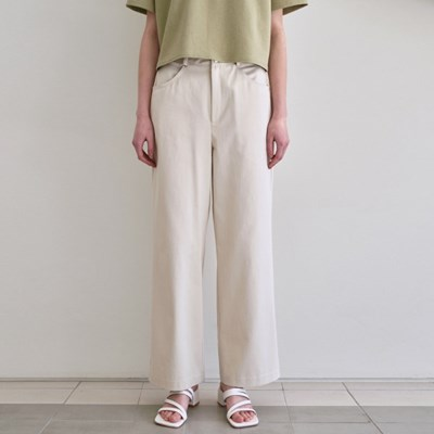 MINIMAL ECRU COTTON PANTS