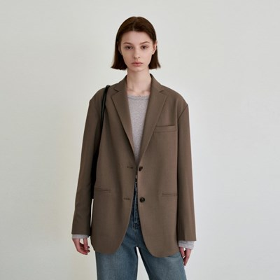 SIGNATURE STANDARD SINGLE JACKET_BROWN