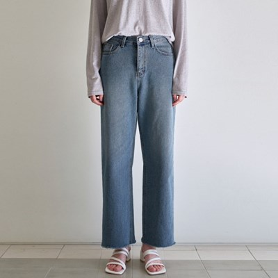 INCOMING CUTTING DENIM PANTS_BLUE