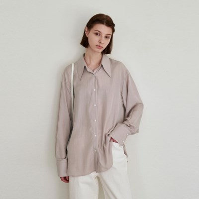 LIGHT SEETHROUGH BLOUSE_PINK BEIGE