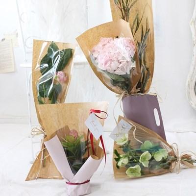 간편 식물 포장지 50장