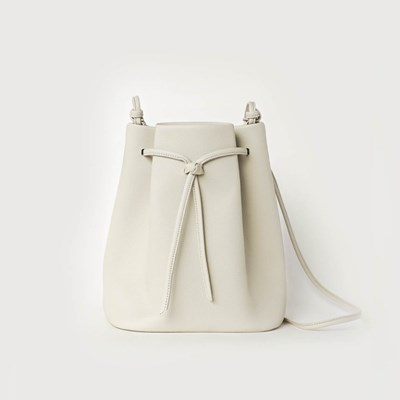 Knot Bucket Bag / Light gray