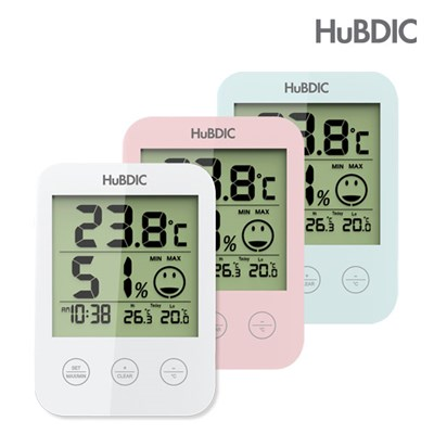 휴비딕 디지털 온습도계 HT-3 시계 아이콘 표시_(1616336)