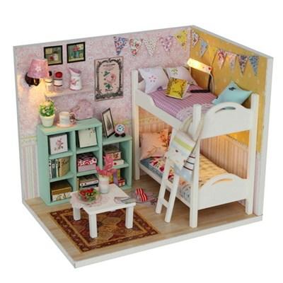 DIY 미니어처 하우스 (입문자용) -M020_가랜드 2층 침대