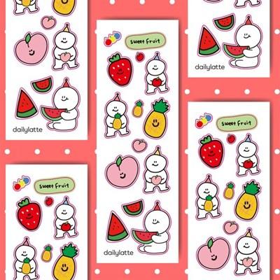 [데일리라떼] sweet fruit 리무버블스티커