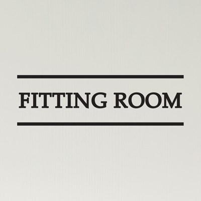 심플라인 Fitting Room 피팅룸 탈의실 옷가게 안내 인테리어 스티커