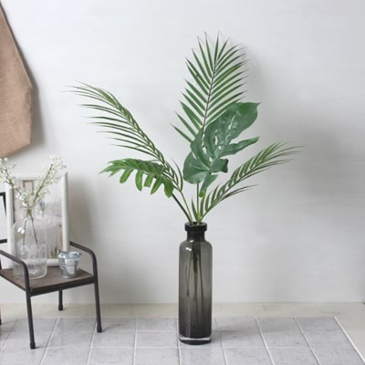 몬스테라 야자수잎 조화 화병세트