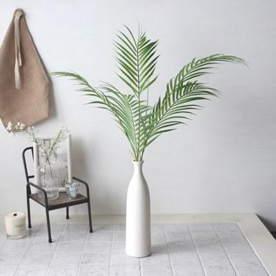 야자수잎 조화 모노화병세트