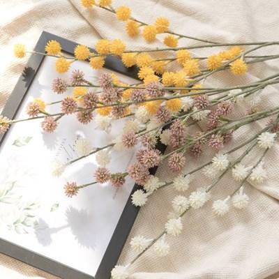 팜팜골든볼가지 70cm 조화 꽃 인테리어 장식 FAIAFT