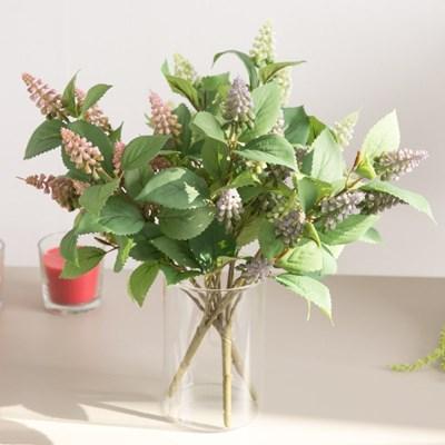 파인무스카리부쉬 40cm 조화 꽃 인테리어 장식 FAIAFT