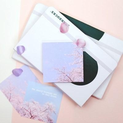 [제미포티] 감성 사진 떡메모지 _ Cherry Blossom