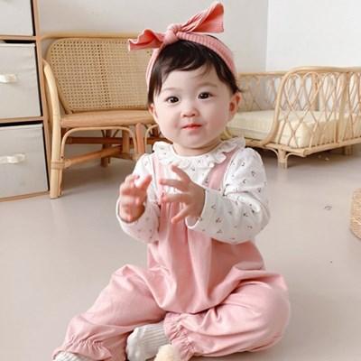 핑크 미니 체리 멜빵 우주복(66-90) 204329