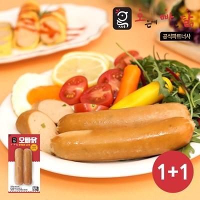 [오빠닭] 닭가슴살 소시지 매콤훈제 120g 1+1팩