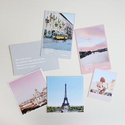 유럽 감성 시너리 데코 엽서 2type