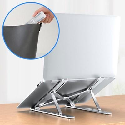 유스마일 6단각도 알루미늄 휴대용 접이식 노트북 거치대 NO.1655